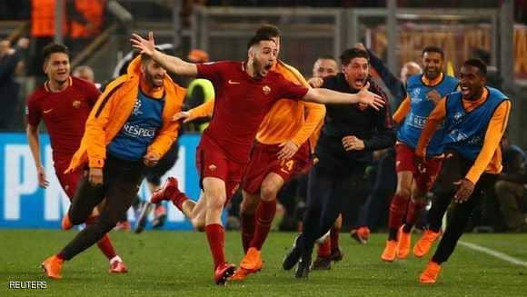 أبطال أوروبا روما يحقق المعجزة ويصعق برشلونة